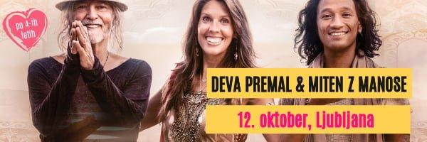 Deva Premal in Miten v Ljubljani
