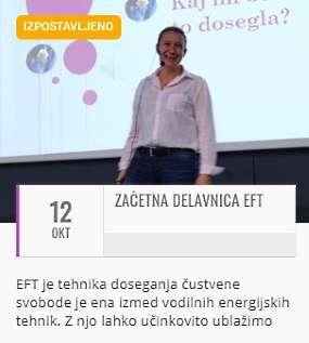 EFT Začetni Tečaj - Helena Cesar