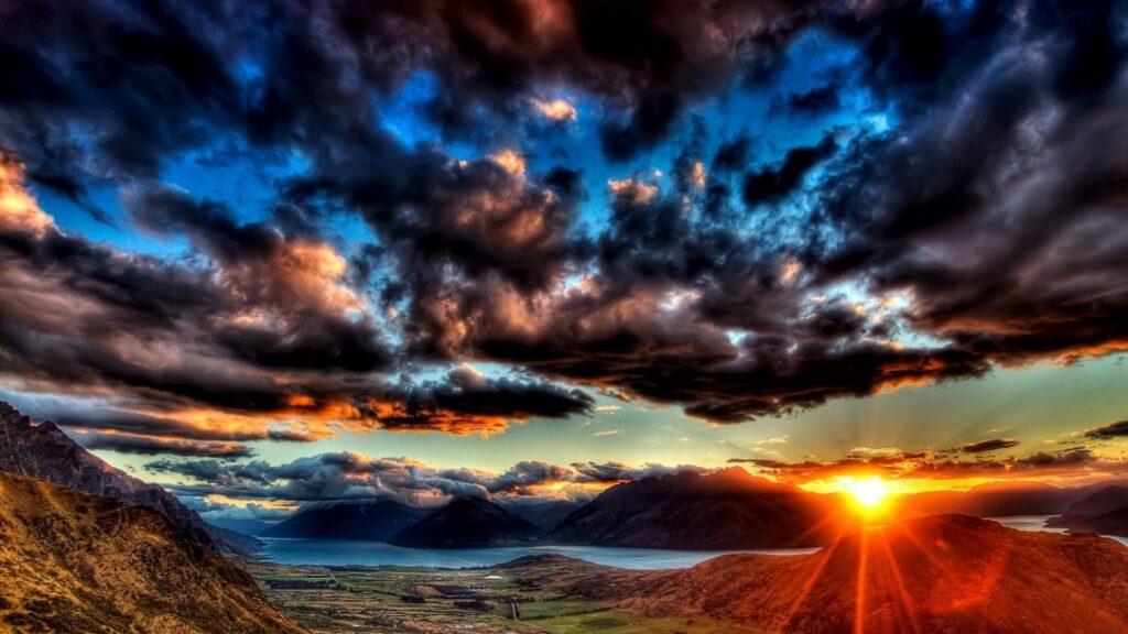 Sunset Dark Clouds