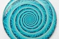 Nalepka Spirala - mat 3 cm