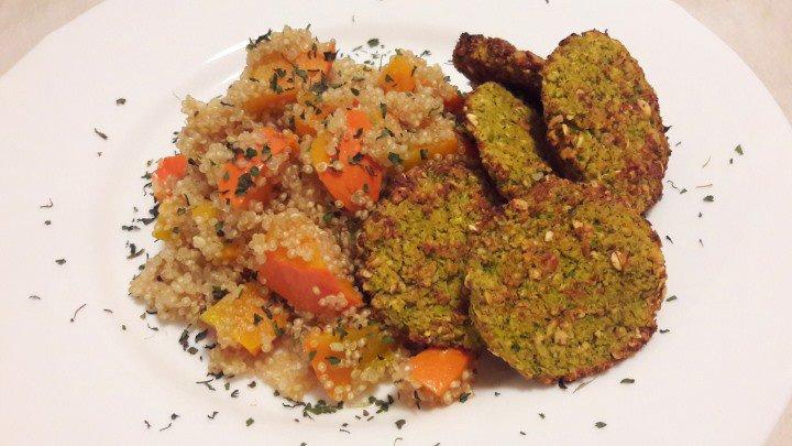 Brokolijevi polpeti na kvinoji