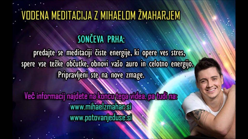 SONČEVA PRHA: Vodena meditacija z Mihaelom Žmaharjem 1