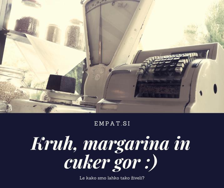 Kruh, margarina in cuker gor 2