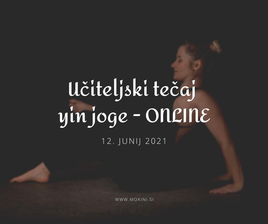 Učiteljski tečaj joge za naziv jin joga učitelj/ica 1