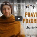 Luč Dhamme: Pravilna pozornost