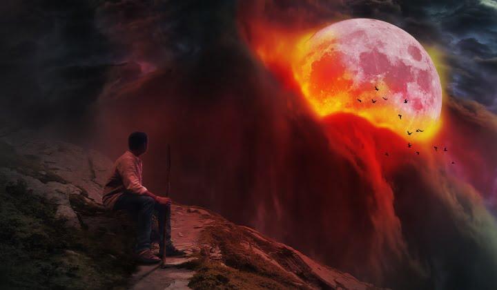 Krvava Superluna – popolni Lunin mrk v Strelcu 26. 5. 2021 2