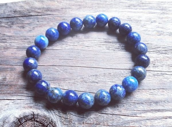 Zapestnica lapis lazuli - okrogli kristali 1