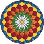 Brezplačno predavanje o mandalah z barvnimi diapozitivi 262